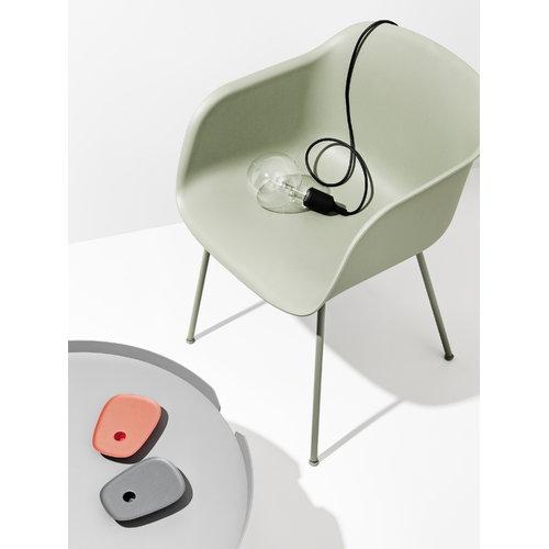 Muuto Fiber armchair, tube base, green