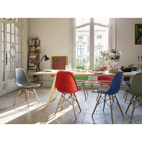 Vitra Eames DSW chair, moss grey - maple