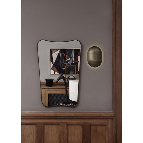 Gubi F.A. 33 mirror, small, black brass
