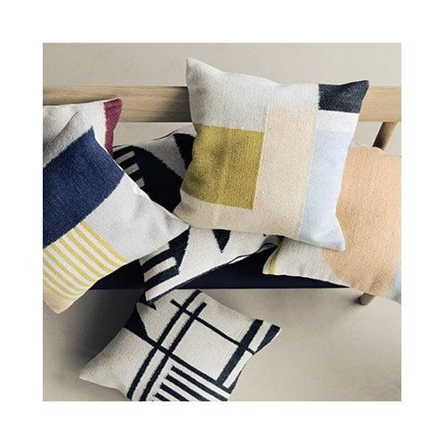 Ferm Living Kelim cushion, Black Triangles