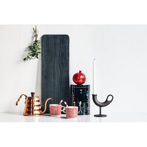 Nedre Foss Ildhane candleholder, black
