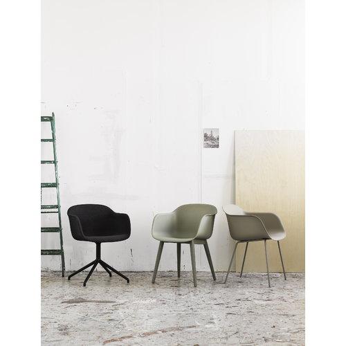 Muuto Fiber armchair, wood base, green