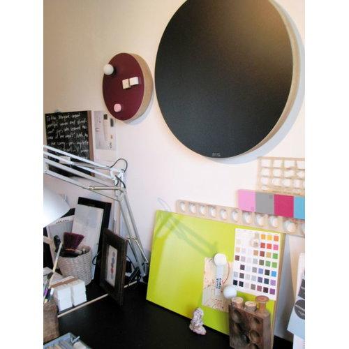 Kotonadesign Lavagna magnetica rotonda, nera