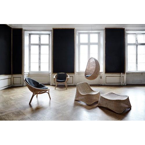 Sika-Design Hanging Egg chair, dark grey seat cushion