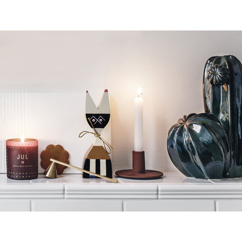 Ferm Living Cast Iron kynttil�njalka, ruosteenpunainen
