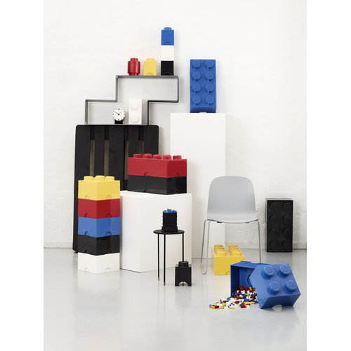 Room Copenhagen Lego Storage Brick 1 round, red