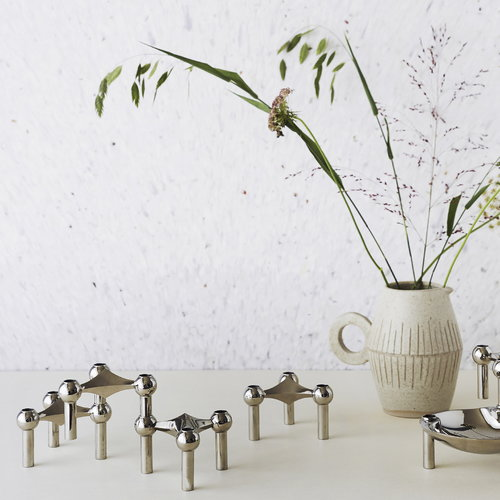 Just Right STOFF candleholder, brass