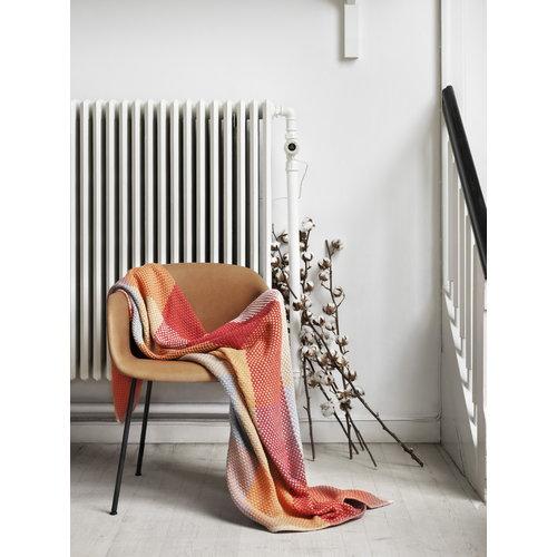 Muuto Fiber armchair, tube base, cognac leather/black
