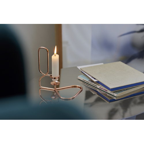 Hay Lup triangle candleholder, copper