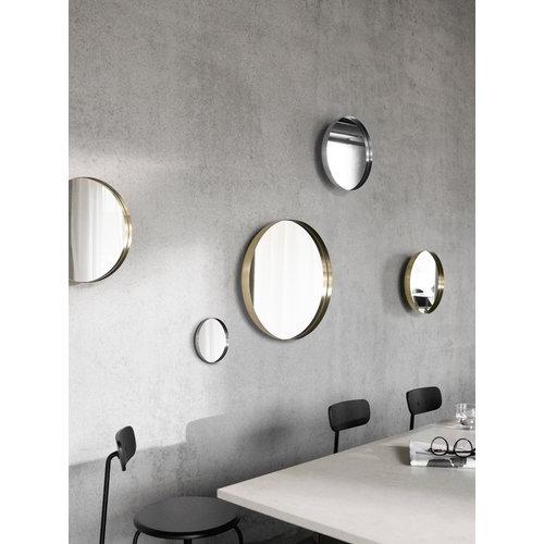 Menu Darkly mirror, small, brass