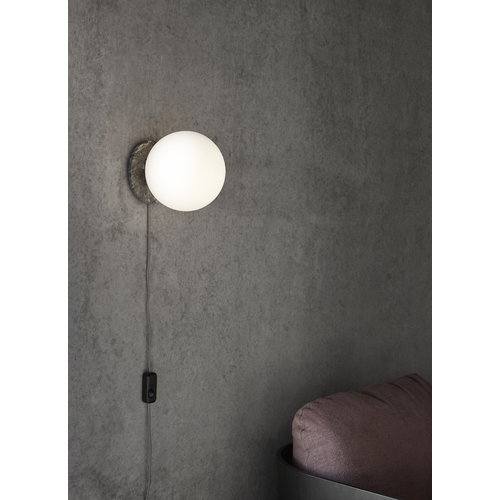 Menu TR Bulb table/wall lamp, grey marble