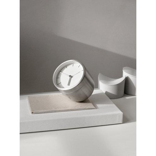 Menu Norm Tumbler alarm clock, brushed steel