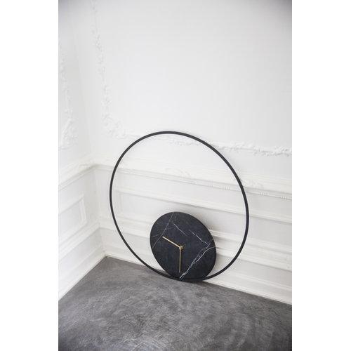 Menu Marble wall clock, black