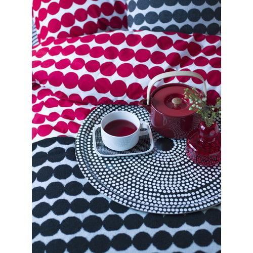 Marimekko Oiva teapot 0,7 l, red - light wood