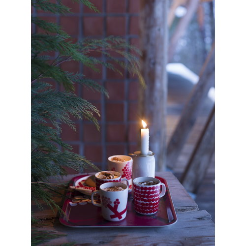 Marimekko Hortensie tray, red