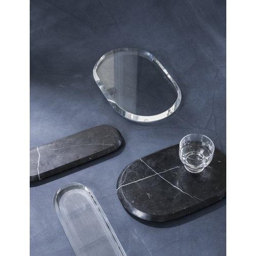 Menu Chamfer tarjoilualusta, S, kristalli