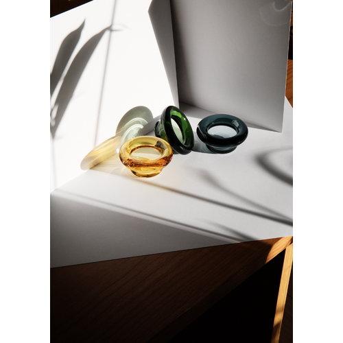 Nedre Foss Sirkel tealight holder, green