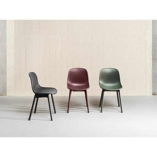 Hay Neu13 chair, bordeaux/matt lacquered ash