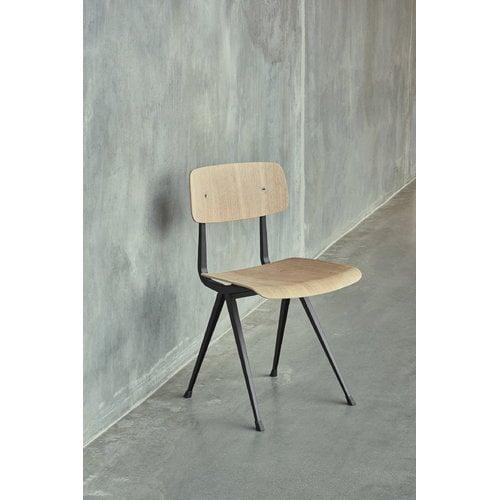 Hay Result tuoli, musta - mattalakattu tammi