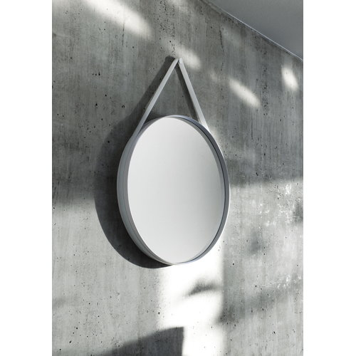 Hay Strap mirror small, grey