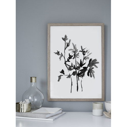 RK Design Shadows of flowers poster