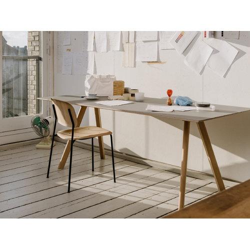 Hay Soft Edge tuoli, metallijalat, mattalakattu tammi
