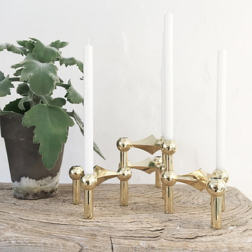 Just Right STOFF Candle holder, brass