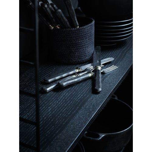 String String floor panel 85 x 30 cm, 2-pack, black