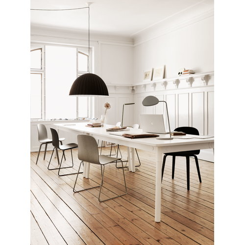 Muuto Visu chair, steel frame, black