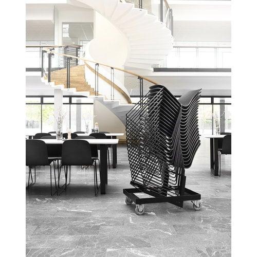 Muuto Visu tuoli, metallijalusta, musta