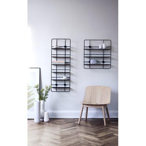 Woud Coup� vertical shelf, black