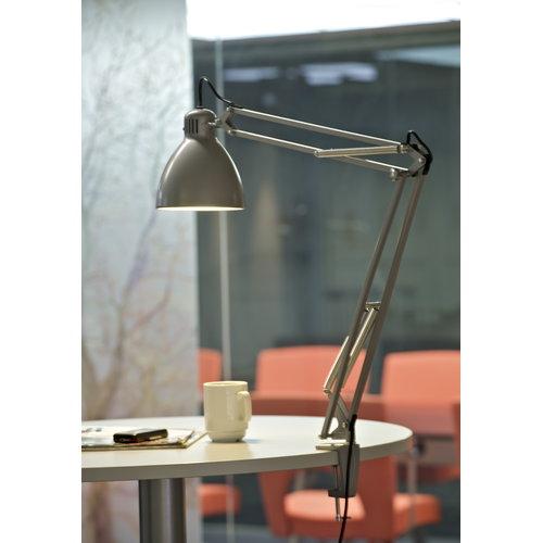 Luxo L-1 architect lamp, aluminium grey