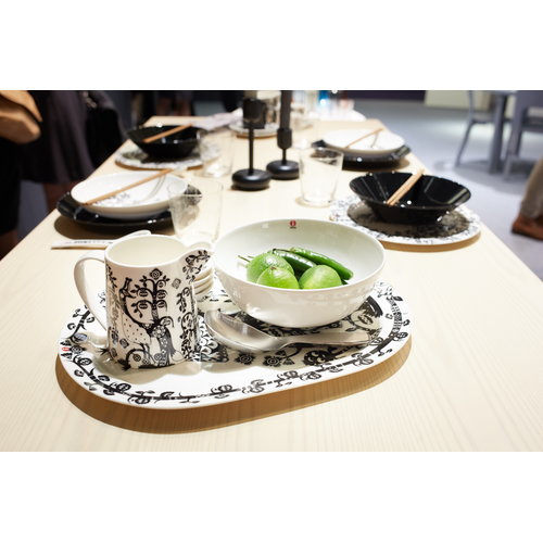 Iittala Taika serving plate 41 cm, black