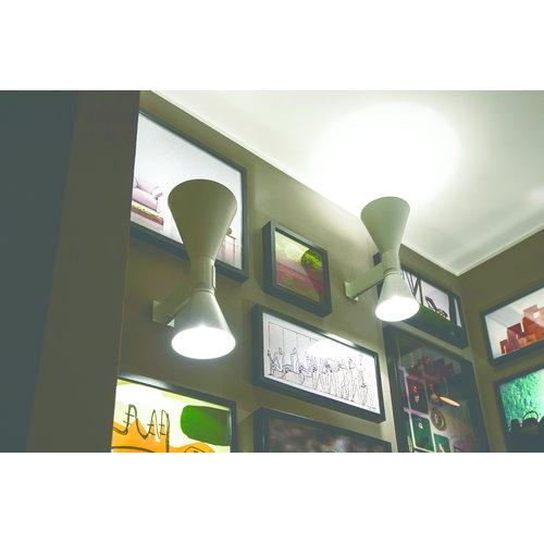 nemo lighting applique de marseille sein valaisin harmaa. Black Bedroom Furniture Sets. Home Design Ideas