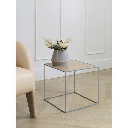 By Lassen Twin 42 table, white/oak