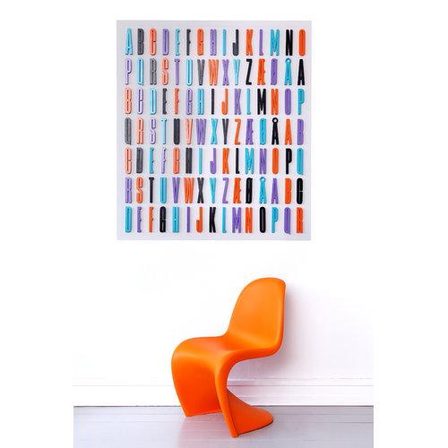 Design Letters Arne Jacobsen wooden letter, black A-�