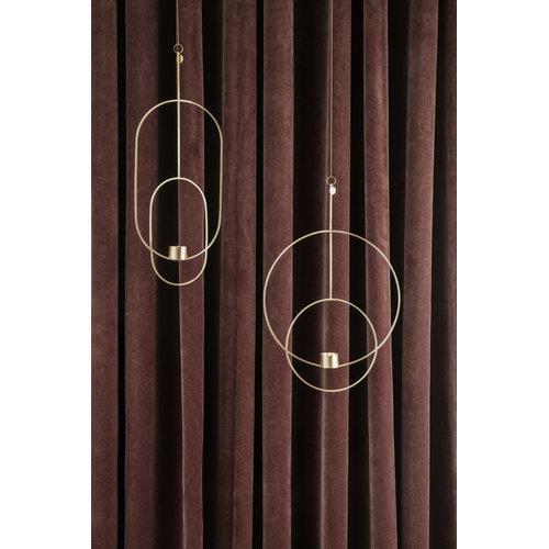 Ferm Living Hanging tealight holder, oval, brass