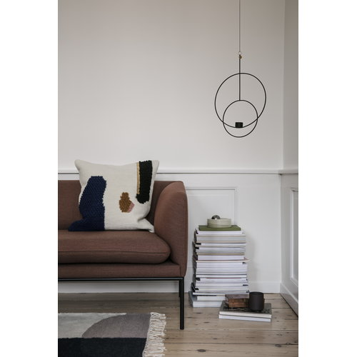 Ferm Living Hanging tealight holder, round, black