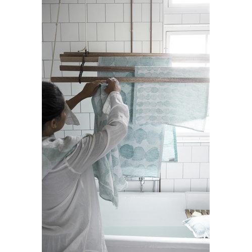 Lapuan Kankurit Sade giant towel, white-turquoise