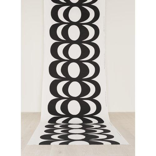 Marimekko Kaivo kangas, valko-musta