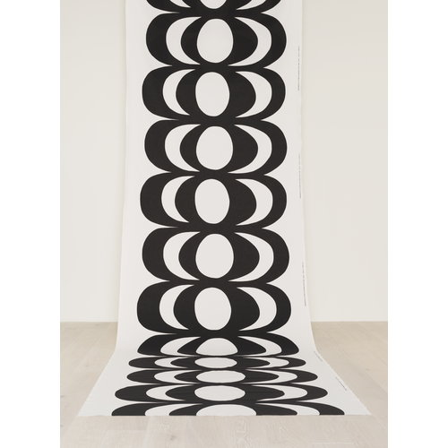 Marimekko Kaivo fabric, white-black