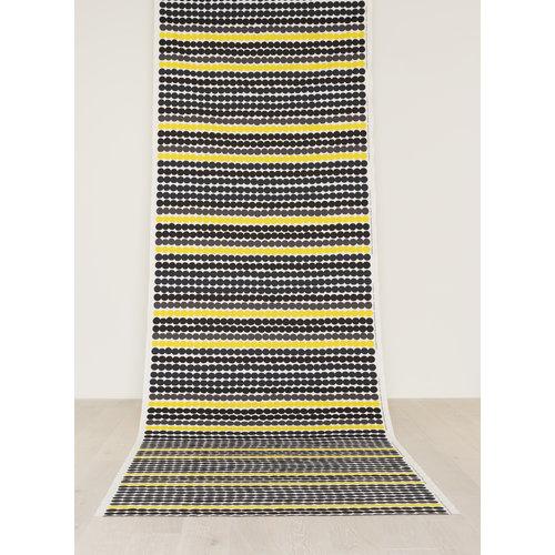 Marimekko R�symatto fabric, black-yellow