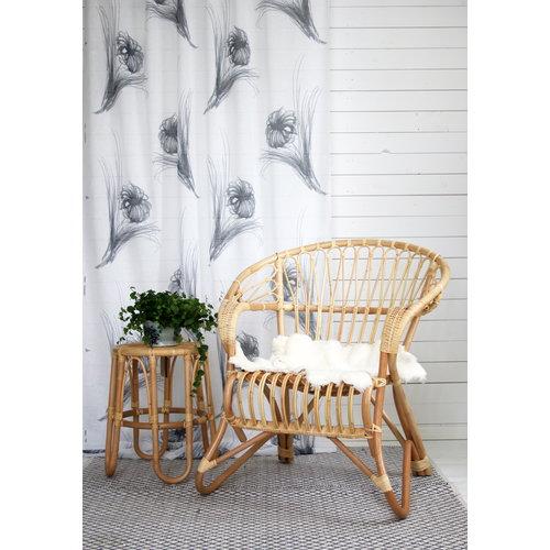 Parolan Rottinki Lumikenk� sohvap�yt�, 50 cm, luonnonv�rinen