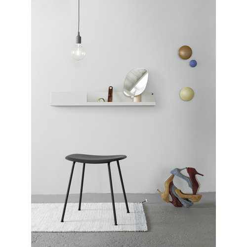 Muuto Fiber stool, metal base, black