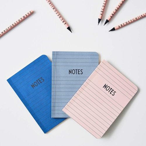 Design Letters Muistikirja A6, vaaleanpunainen