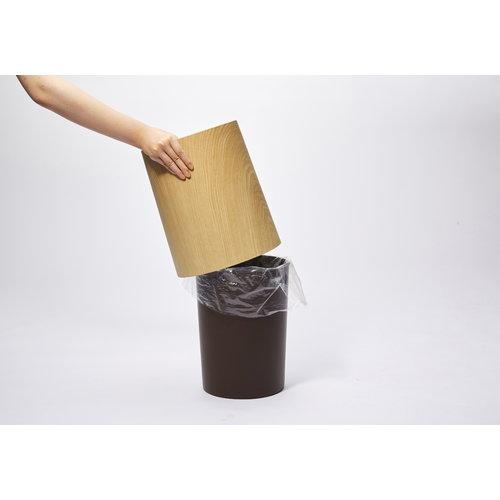 Ideaco Tubelor Homme trash can, oakwood