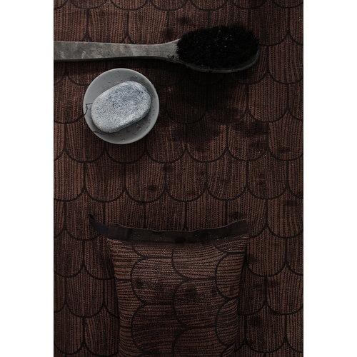 Lapuan Kankurit Paanu laudeliina 48 x 150 cm, musta-ruskea