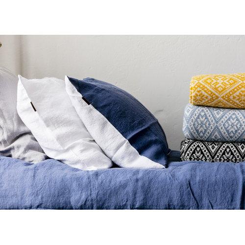 Lang� Duvet cover, linen, denim-white