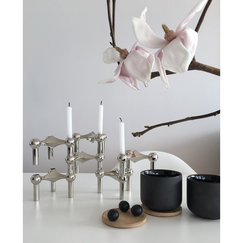 Just Right STOFF candleholder, chrome