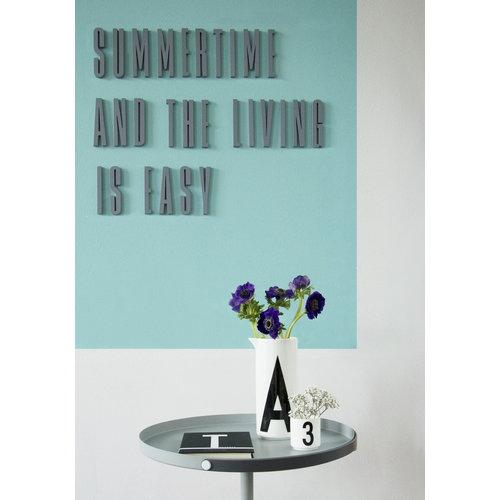 Design Letters Arne Jacobsen puukirjain, harmaa A-�